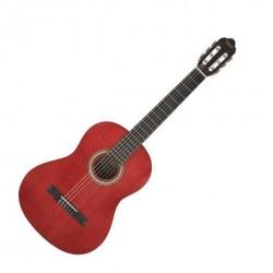 Valencia VC204 Transparent Wine Red klasszikus gitár