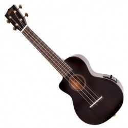Mahalo Electric-Acoustic Concert Ukulele, Left-Handed, Trans. Black