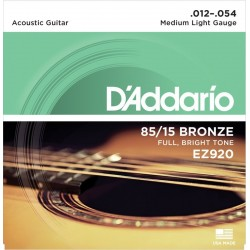 D'Addario EZ-920 akusztikus gitár húr (medium light)
