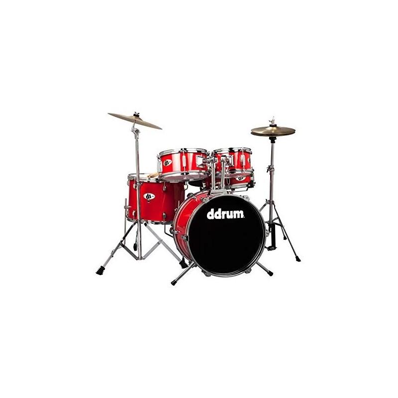 DDRUM D1 Junior Drum Set 5pc - Candy Red