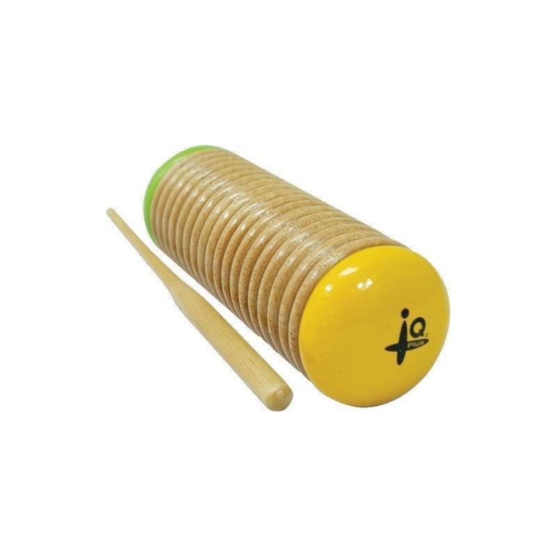 IQ Plus Yellow and Green Wooden Guiro Shaker