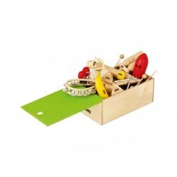 Nino gyermek ütõhangszer készlet fa dobozban