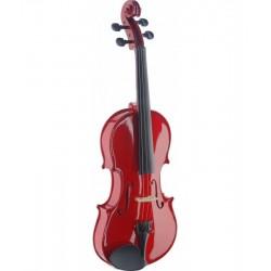 Stagg VN4/4−TR piros hegedűkészlet