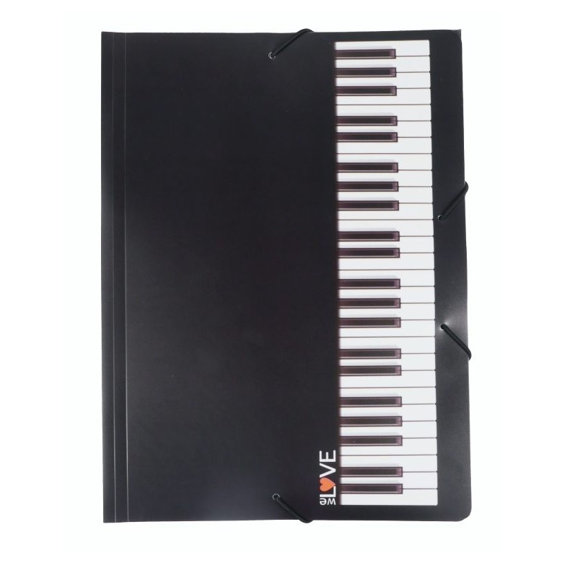 Gumis mappa zongorabillentyű mintával