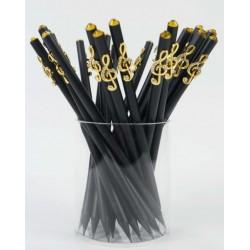 Fekete ceruza arany violinkulccsal