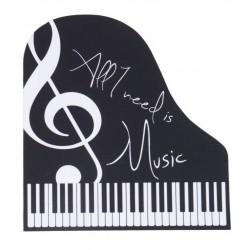 Zongora alakú egérpad