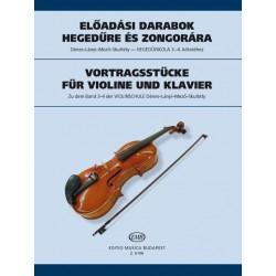 Előadási darabok hegedűre és zongorára a Hegedűiskola 3-4. kötetéhez