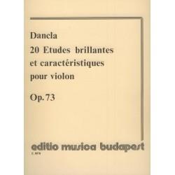 Dancla, Charles: 20 études brillantes et caractéristiques hegedűre Op. 73