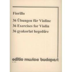 Fiorillo, Federigo: 36 gyakorlat