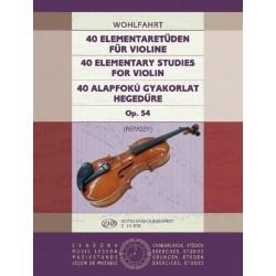 Wohlfahrt, Franz: 40 alapfokú gyakorlat Op. 54 Közreadta Répássy Györgyi
