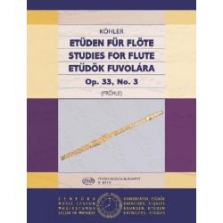 Köhler, Ernesto: Etűdök fuvolára 3 Op. 33, No. 3 Közreadta Prőhle Henrik