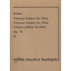 Köhler, Ernesto: Virtuóz etűdök fuvolára 2 Op. 75 Közreadta Prőhle Henrik
