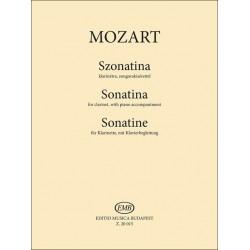 Mozart, Wolfgang Amadeus: Szonatina klarinétra, zongorakísérettel a Divertimento No. 4 (KV 439b) alapján készült átirat
