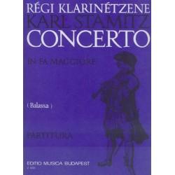 Stamitz, Carl: Klarinétverseny F-dúr partitúra Szerkesztette Balassa György
