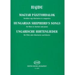 Hajdu Mihály: Magyar pásztordalok fuvolára vagy klarinétra és zongorára