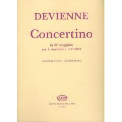 Devienne, Francois: Concertino B-dúr két klarinétra és zenekarra zongorakivonat