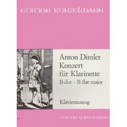 Dimler, Anton: Konzert für Klarinette B-dur ~ B flat major zongorakivonat