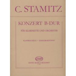 Stamitz, Carl: Konzert B-Dur für Klarinette und Orchester (2. Darmstädter Konzert) zongorakivonat