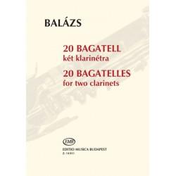 Balázs Árpád: 20 bagatell két klarinétra