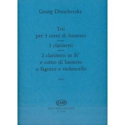 Druschetzky, Georg: Trii per 3 basszuskürtre