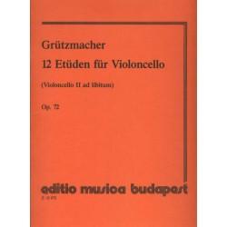 Grützmacher, Friedrich: 12 etűd (II. gordonka ad lib.) Op. 72 Összeállította és átdolgozta Pejtsik Árpád