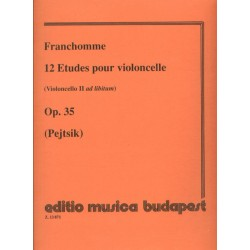 Franchomme, Auguste-Joseph: 12 etűd (II. gordonka ad lib.) Op. 35 Szerkesztette Pejtsik Árpád