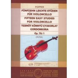 Popper, David: Tizenöt könnyű gyakorlat Op. 76/1 Közreadta Pejtsik Árpád