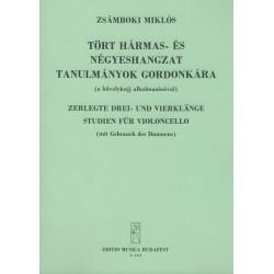 Zsámboki Miklós: Tört hármas- és négyeshangzat tanulmányok (a hüvelykujj alkalmazásával)