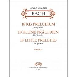 Bach, Johann Sebastian: 18 kis prelúdium Közreadta Hernádi Lajos