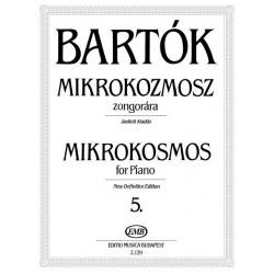 Bartók Béla: Mikrokozmosz zongorára 5 Javított kiadás