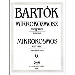 Bartók Béla: Mikrokozmosz zongorára 6 Javított kiadás