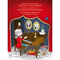 Mozart, Wolfgang Amadeus: A GYERMEK MOZART Kis zongoradarabok kotta és letöltőkód