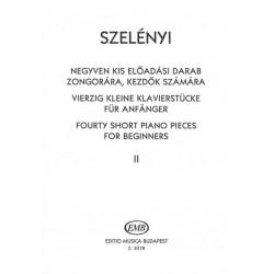 Szelényi István: Negyven kis előadási darab II kezdők számára