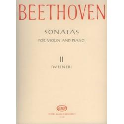 Beethoven, Ludwig van: Szonáták 2 hegedűre és zongorára Szerkesztette Weiner Leó