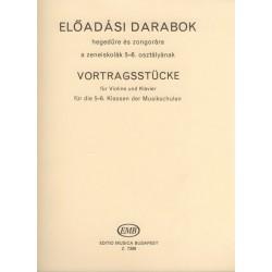 Előadási darabok hegedűre és zongorára a Hegedűiskola 5-6. kötetéhez
