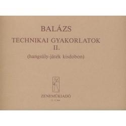 Balázs Oszkár: Technikai gyakorlatok 2 ütőhangszerekre - Hangsúly-játék kisdobon