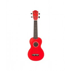 Baton Rouge NU1S-RD szoprán ukulele élénk színben