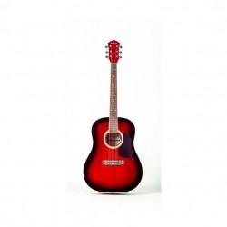 Geryon LD-18 akusztikus gitár piros