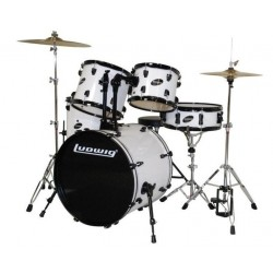 Ludwig Accent Drive Set - LC1758 White