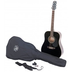 SX SA1 Acoustic Guitar Kit Black