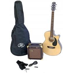 SX SA3 Electric Acoustic Kit Natural - 1