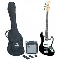 SX SB1 Bass Guitar Kit Black - 1